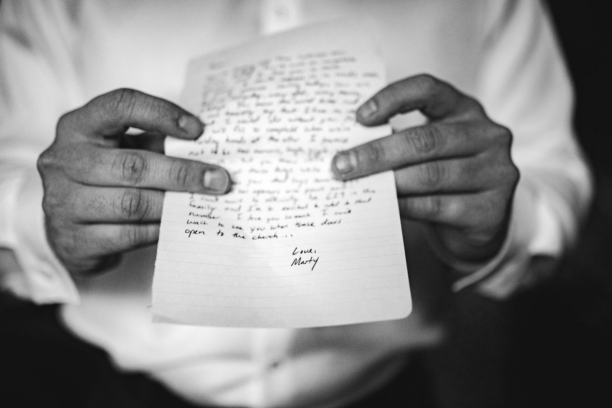 groom hand written vows