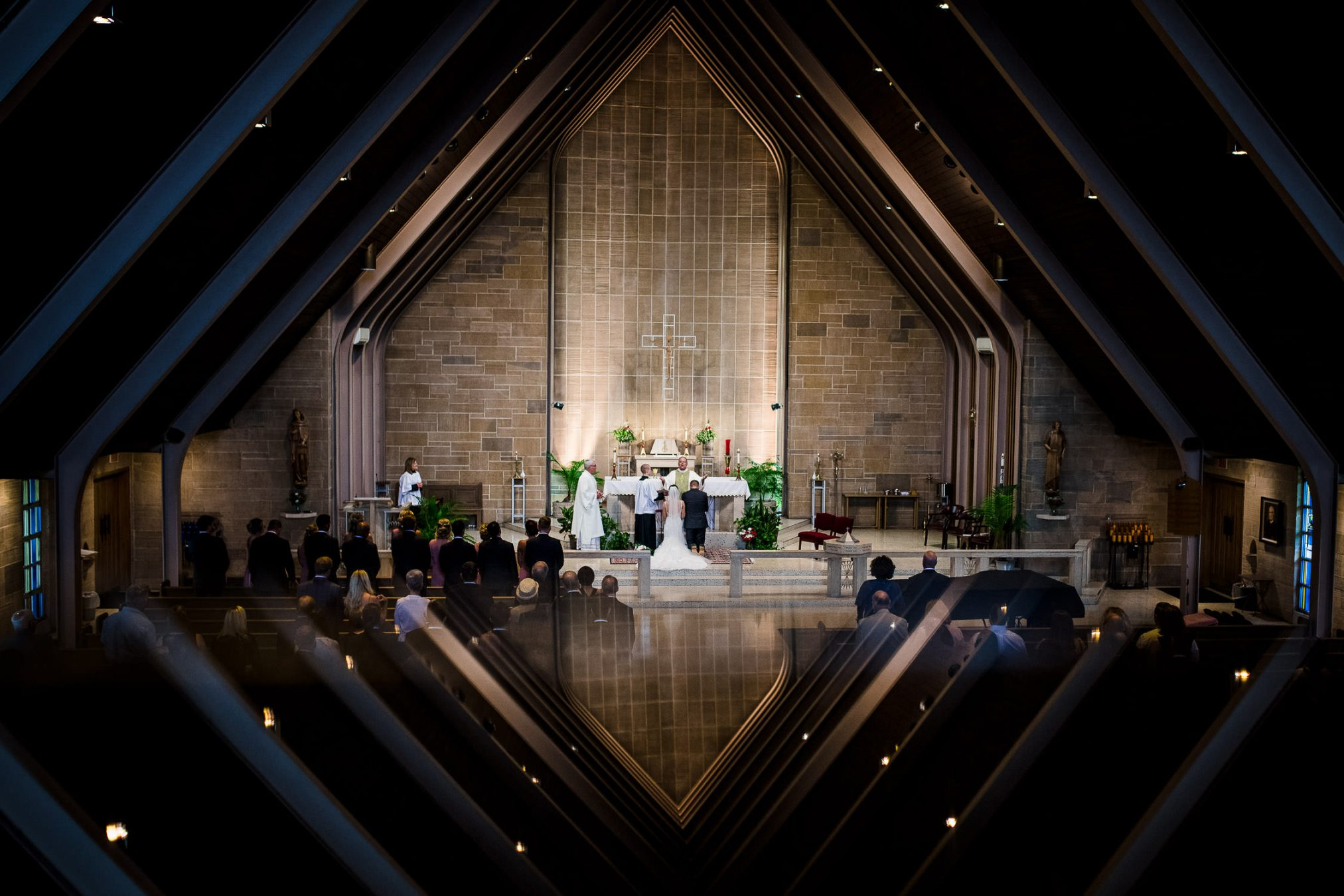 creative wedding in church