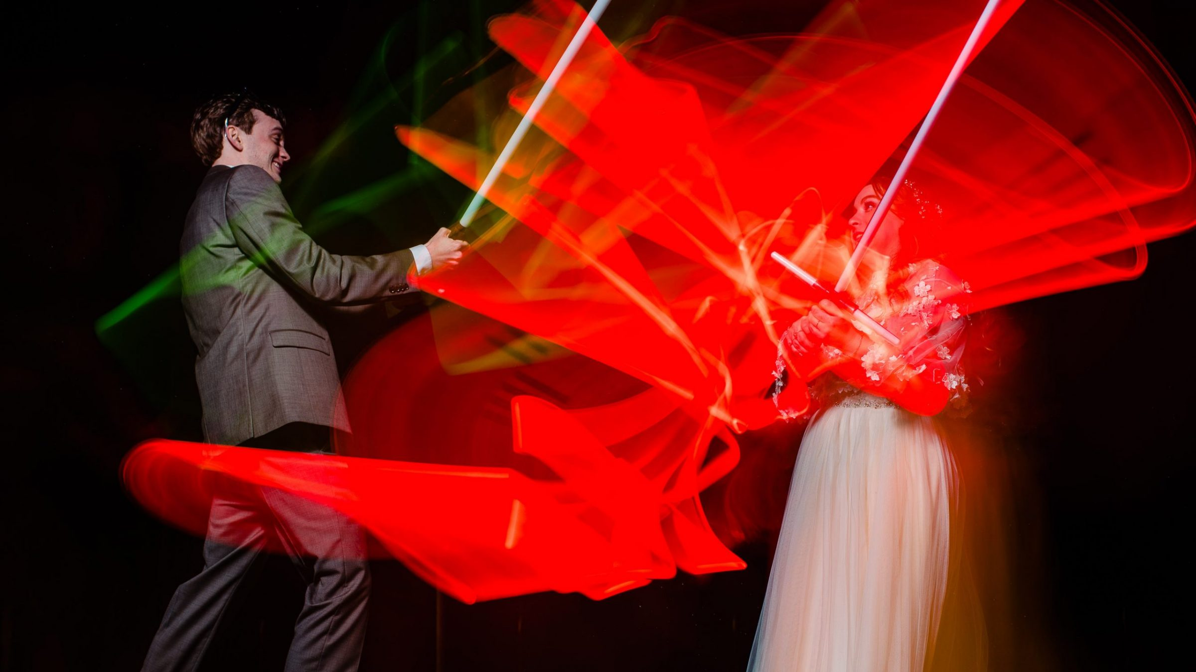 star wars wedding light saber battle